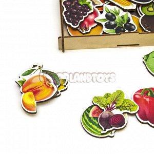 Пазл-набор «Овощи, фрукты, ягоды» (дер.коробка), 111401