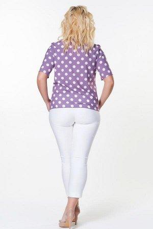 Блузка Мальвина №15.Цвет:крупный горох