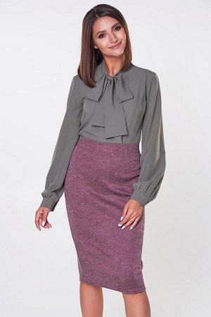 Блузка Эмилия №18.Цвет:оливковый