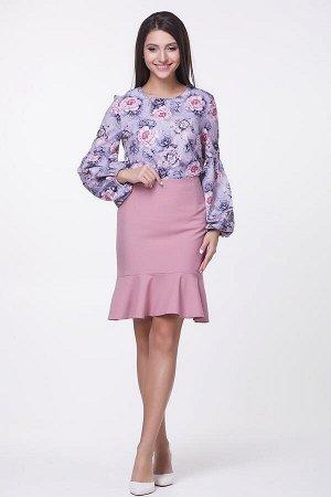Блузка Эрика №7.Цвет:сиреневый