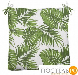 Декоративная подушка (сидушка) толстушка «Листья» 40х40