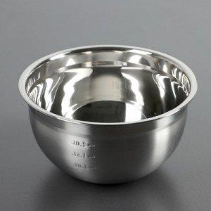 Салатник 20х10,2 см с мерной шкалой 1,2 л,толщина 0,6 мм
