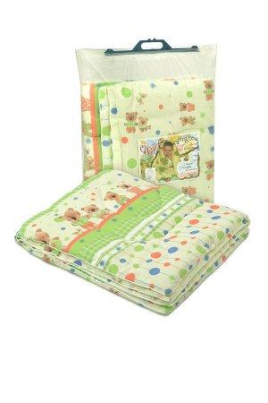 Одеяло стёганое детское Синтепон в бязи . Бязь 110*140