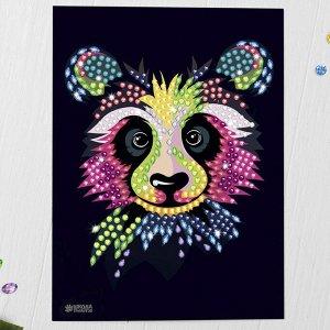 Мозаика стразами «Панда». Набор для творчества