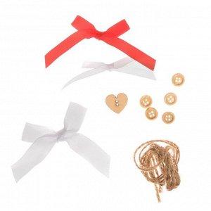 Игрушки на ёлку «Яркий праздник», набор для шитья, 10,7 ? 16,3 ? 1,5 см