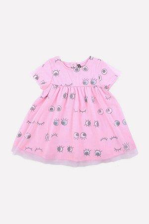 5545 Платье/розовое облако, глазки