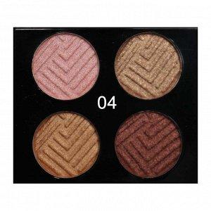 Тени O.TWO.O 4 Colours Eyeshadow №4 4x2.5 g