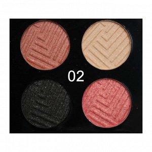 Тени O.TWO.O 4 Colours Eyeshadow №2 4x2.5 g