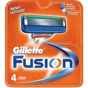 Gillette сменные кассеты Fusion 4 шт