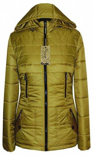 Модная куртка от производителя с капюшоном Код: 87 горчица