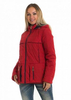 Молодёжная короткая куртка от производителя Код: 83 красный