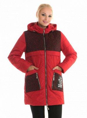 Модный молодёжный плащ с капюшоном Код: 88 красный