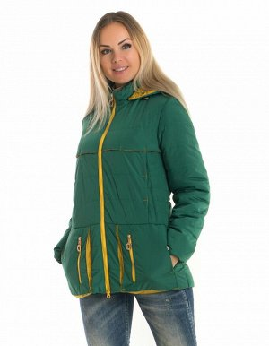 Женская куртка с капюшоном от производителя Код: 83 зеленый