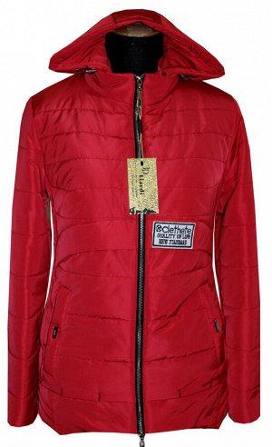 Яркая молодёжная куртка с капюшоном Код: 86 красный