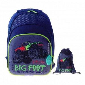 Рюкзак каркасный, Luris «Джерри 3», 38 x 28 x 20 см, наполнение: мешок для обуви, «Внедорожник»