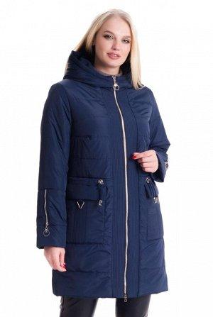 Стильная демисезонная куртка синего цвета Код: 5 синий