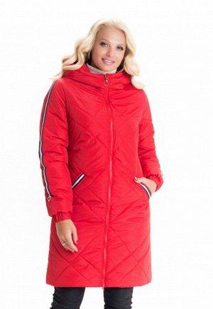 Стильная демисезонная куртка красная Код: 6 красный