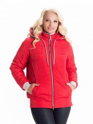 Модная короткая красная куртка Код: 10 красный
