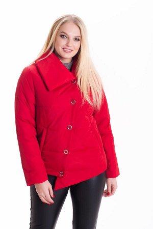 Стильная демисезонная куртка укороченного фасона Код: 2 красный