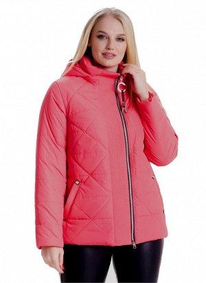 Ультрамодная укороченная женская куртка на весну-осень Код: 4 коралл