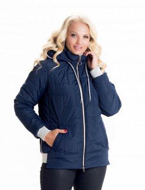 Короткая осенне-весенняя женская куртка Код: 10 синий