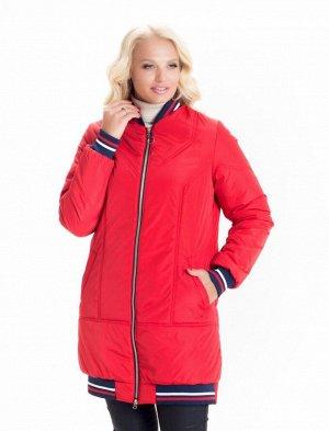 Модная красная весенняя куртка бомбер Код: 1 красный