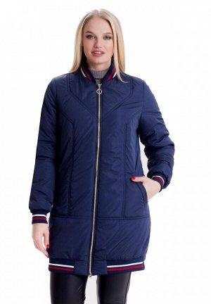 Демисезонная куртка свободного стиля Код: 1 синий