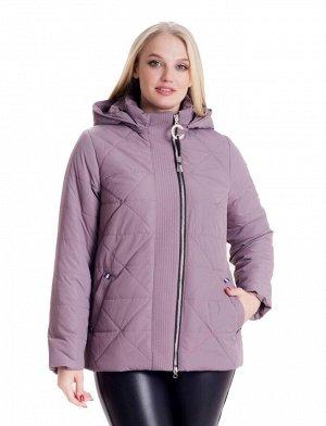 Короткая демисезонная куртка с капюшоном Код: 4 пудра