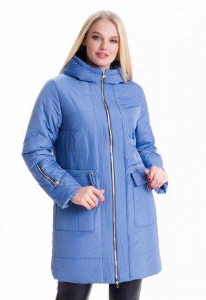 Женская куртка демисезонная с капюшоном Код: 5 голубой