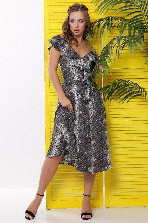 Платье 1832 серый