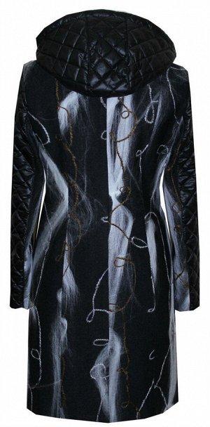 Молодёжное пальто с отделкой Код: 08 нить