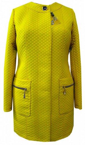 Кардиган с накладными карманами Код: 01 жёлтый