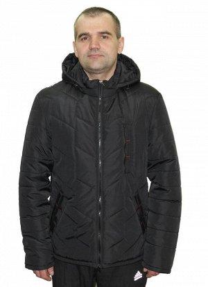 Куртка мужская весенняя с капюшоном Код: 01 чёрный