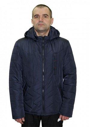 Мужская весенняя куртка больших размеров Код: 01 синий