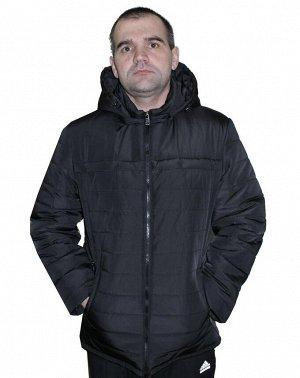 Демисезонная мужская куртка черного цвета Код: 03 черный