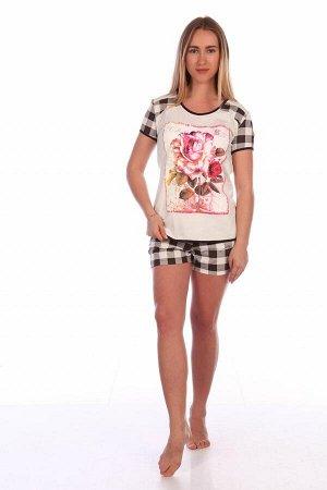 Пижама Ткань:Кулирка Состав:Хлопок 100%