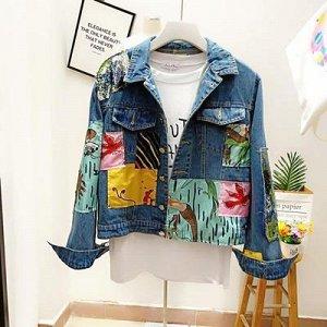 Куртки Размер M (длина 56 см, ОГ 104 см, длина рукава 59 см), L (длина 57 см, ОГ 106 см, длина рукава 60 см)