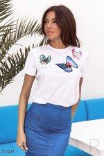 Базовая футболка с бабочками