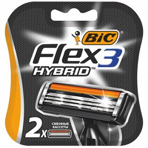 Сменные кассеты Bic Flex 3 HYBRID (2 шт) RusPack orig