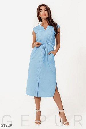 Льняное платье-миди
