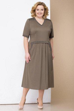 Платье Linia-L Б-1714 хаки