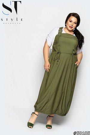 Комплект двойка 50105 (блузка + сарафан)