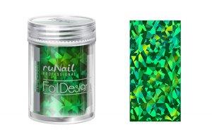 Дизайн для ногтей: фольга (цвет: зеленый, голографический), 1,5м