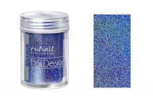 Дизайн для ногтей: фольга (цвет: голубой, голографический), 1,5м
