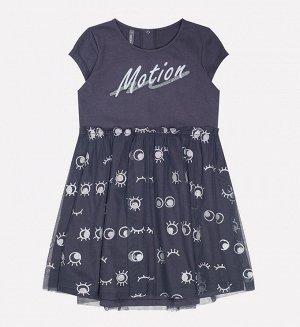 Платье для девочки Crockid КР 5501 темно-серый3 к203