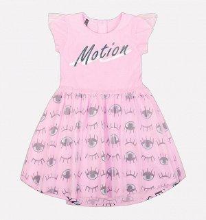 Платье для девочки Crockid КР 5502 розовое облако2 к203
