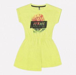 Платье для девочки Crockid КР 5505 лайм1 к207