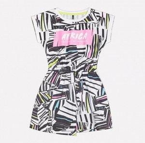 Платье для девочки Crockid КР 5505 цветная графика на сахаре к207