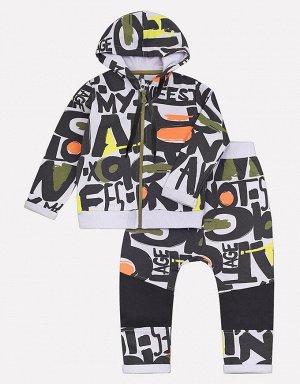Комплект для мальчика Crockid КР 2582 манифест на светло-сером к206