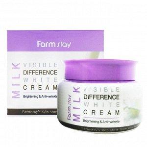 Farm Stay Visible Difference Cream 100гр. - Крема для кожи лица Milk